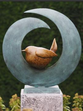 Bronzen beelden vogel