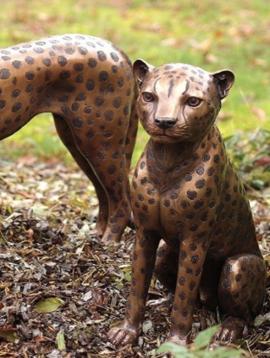 Gartenskulptur Gepard