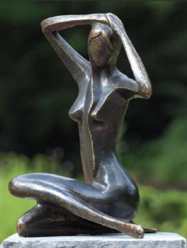 Tuinbeeld vrouw