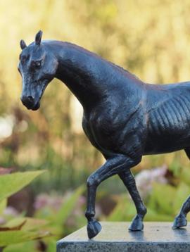 Paardenbeeld brons