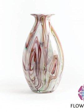Fidrio Vase Coloured Stripes Drop