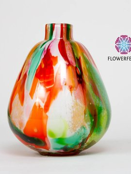 Fidrio Vases Mixed Colors Pear