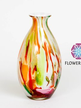 Fidrio Vase Mixed Colors Drop