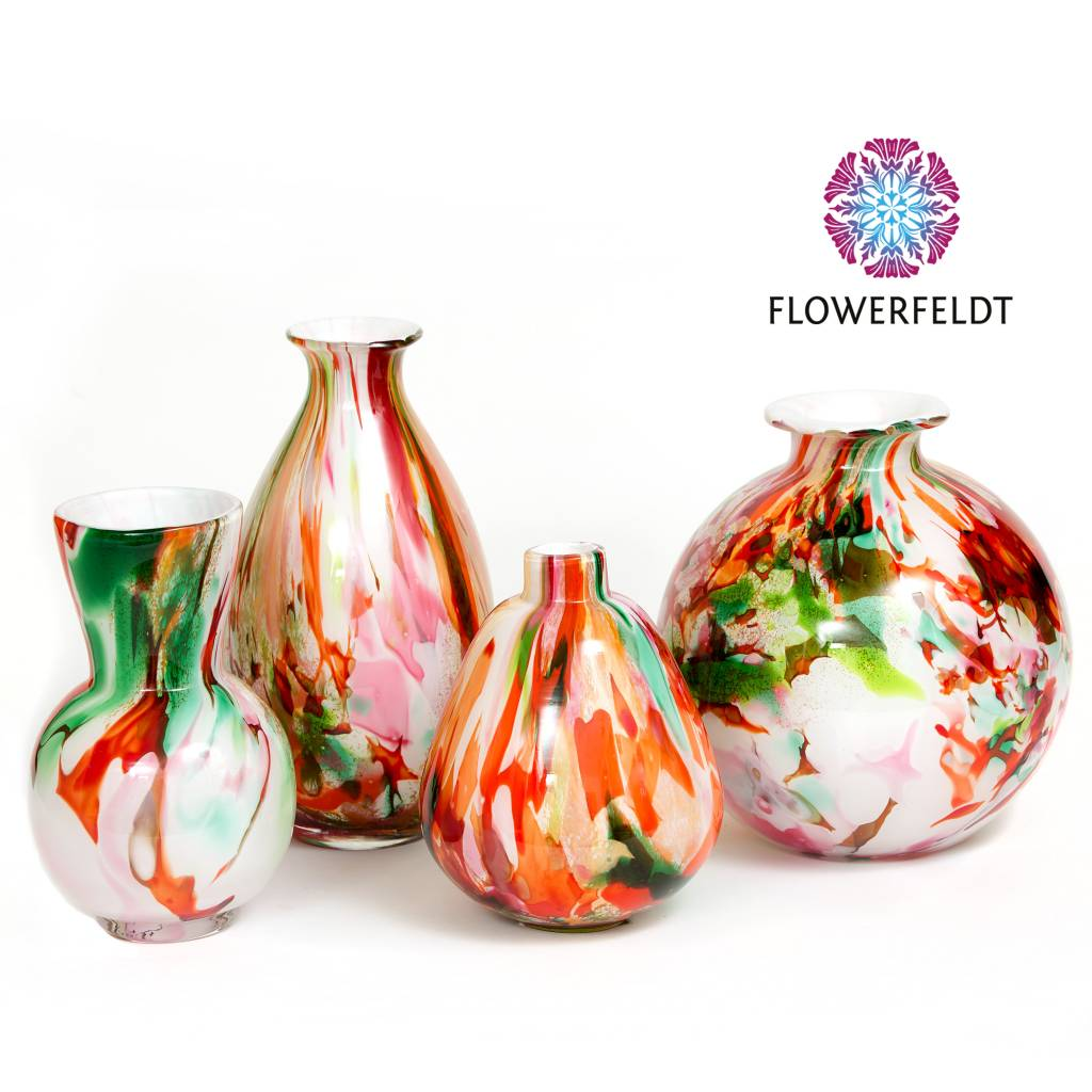 Fidrio Vase Mixed Colors Oval