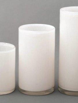 DutZ Tall white cilinder vazen