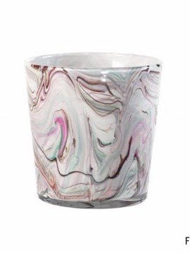 Fidrio Pot Coloured Stripes