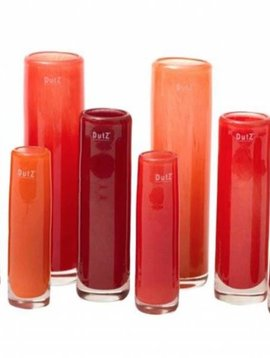 DutZ Cylinder vases red orange