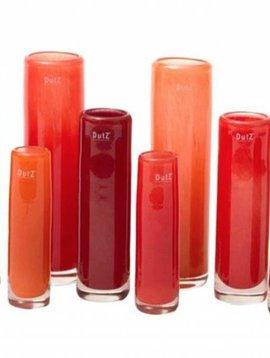 DutZ Zylinder Vasen red orange