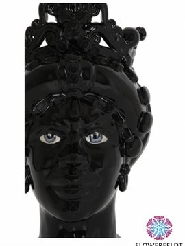 Sicily & More Queen Black Glazed