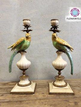 Papagei Kerzenhalter