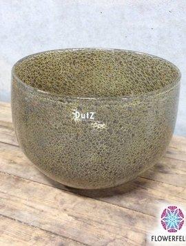 DutZ Glas Schüssel silverbrown