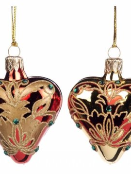Goodwill Christmas baubles Damask heart
