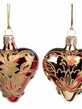 Goodwill Kersthangers Damask heart