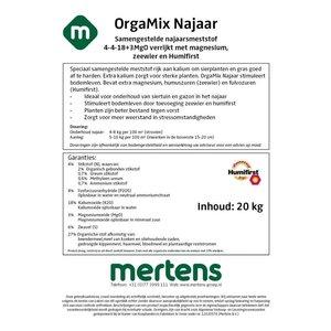 Mertens OrgaMix Najaar meststof 4-4-18+3 MgO - 20KG