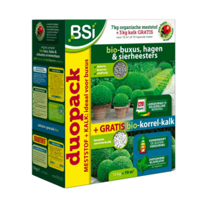 BSI Meststof Bio-Buxus - 7kg + 3kg bio-korrel-kalk gratis