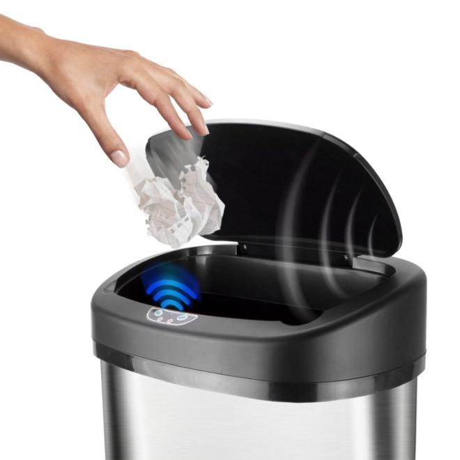 iBin Sensor RVS prullenbak - Opent en sluit zelf