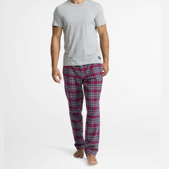 Bjorn Borg pyjamabroek WINTERCHECK rood