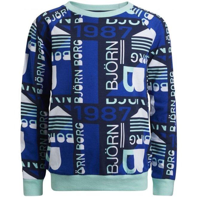 Bjorn Borg Kinderpyjama GRAPHIC FIELD blauw