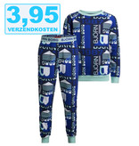 Bjorn Borg Kinderpyjama GRAPHIC FIELD blauw