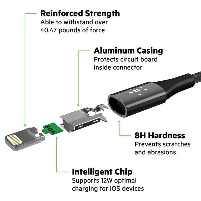Onverwoestbare Belkin oplaad- en datakabel voor Micro USB en Lightning
