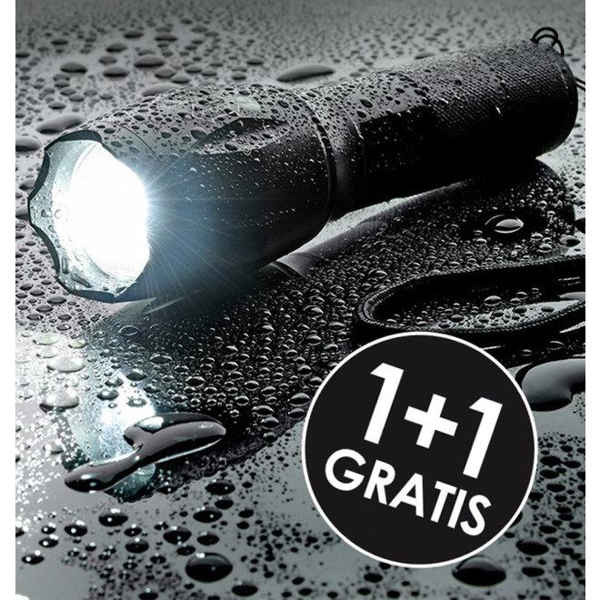 1 + 1 GRATIS waterdichte LED zaklamp