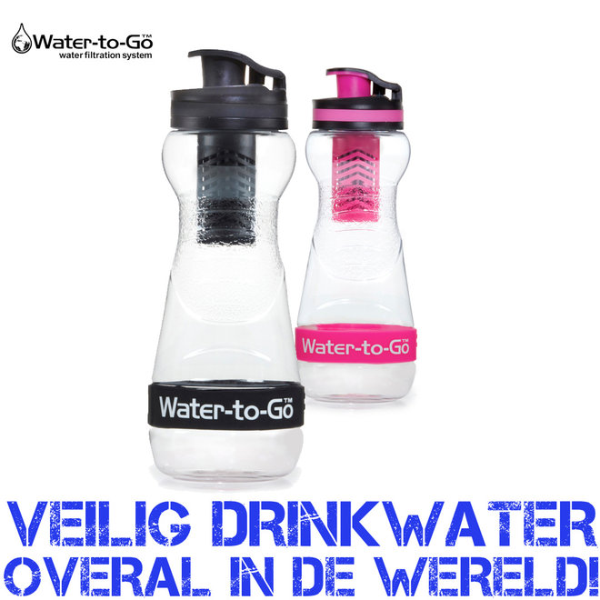 Water-to-Go waterfilter fles - Voor overal veilig drinkwater