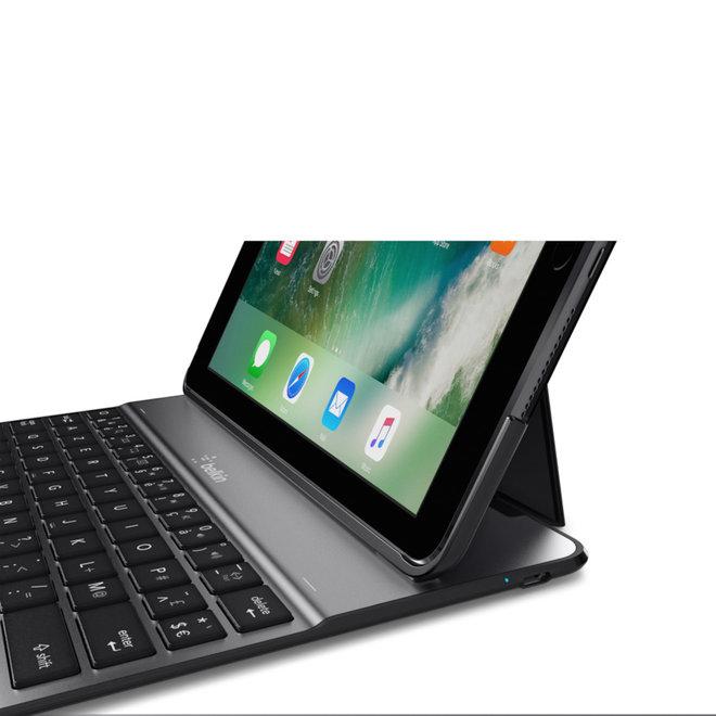 """AZERTY Belkin QODE Ultimate Lite hoes met toetsenbord voor de 9,7"""" iPad 2017, iPad 2018 en iPad Air"""