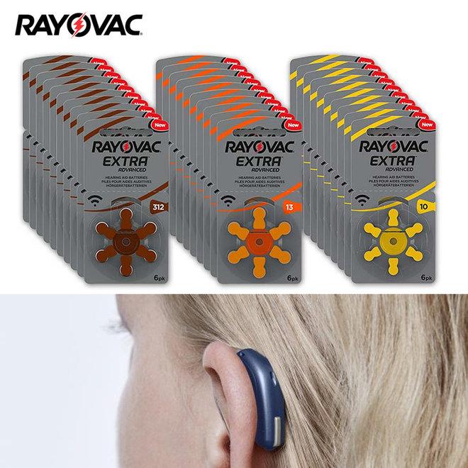 60 stuks Rayovac gehoorapparaat batterijen