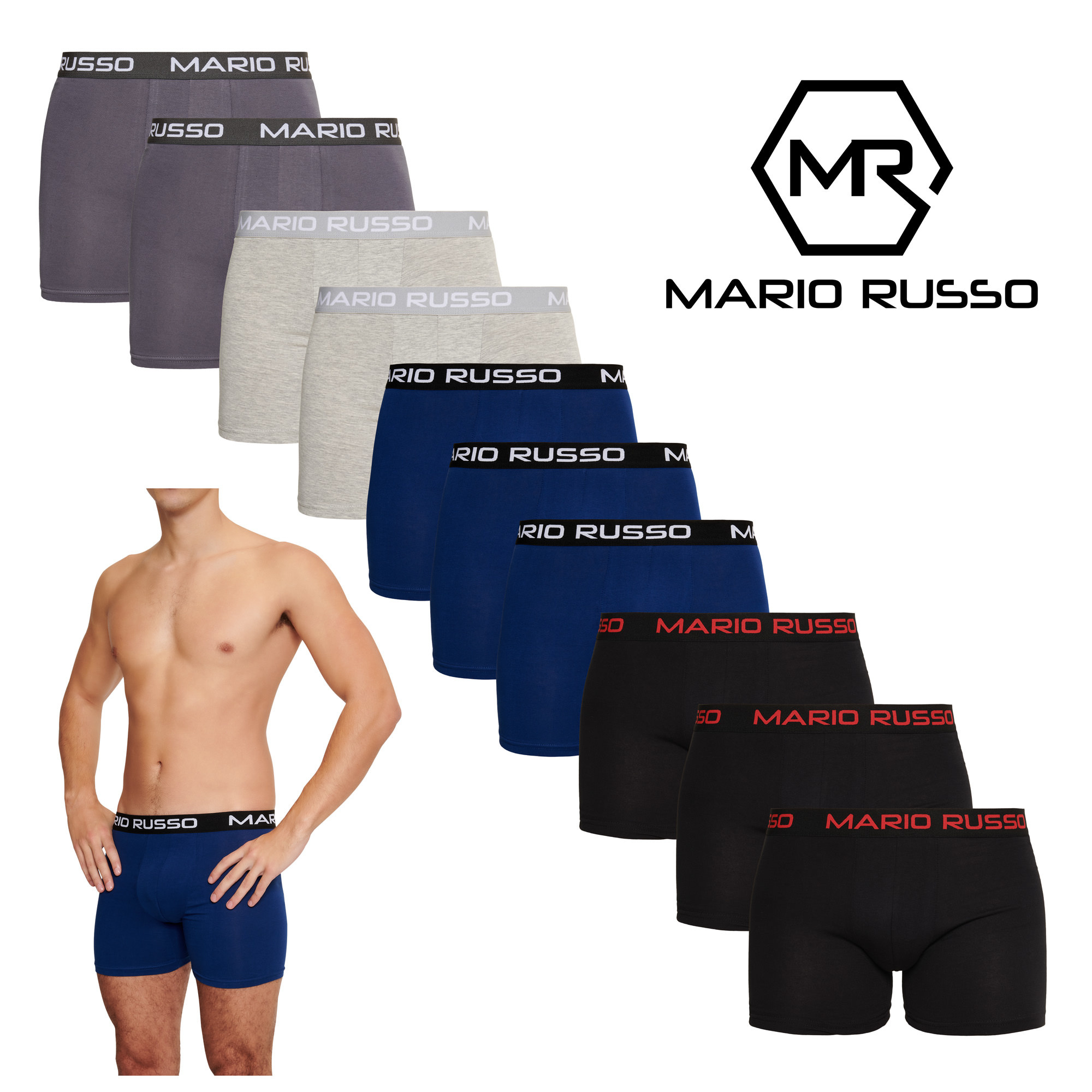 10-pack Mario Russo boxershorts