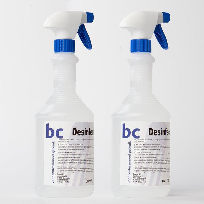 2-pack desinfecterende spray 80s 2 liter