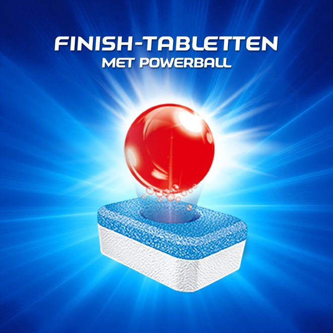 Mega Pack 270 afwastabletten Finish All in One ontvetter