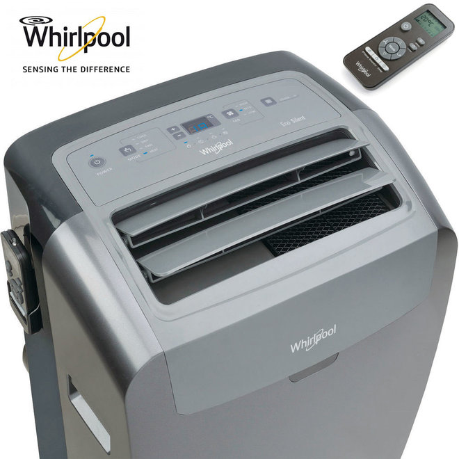 Whirlpool mobiele airco met HEPA filter en verwarmingsfunctie