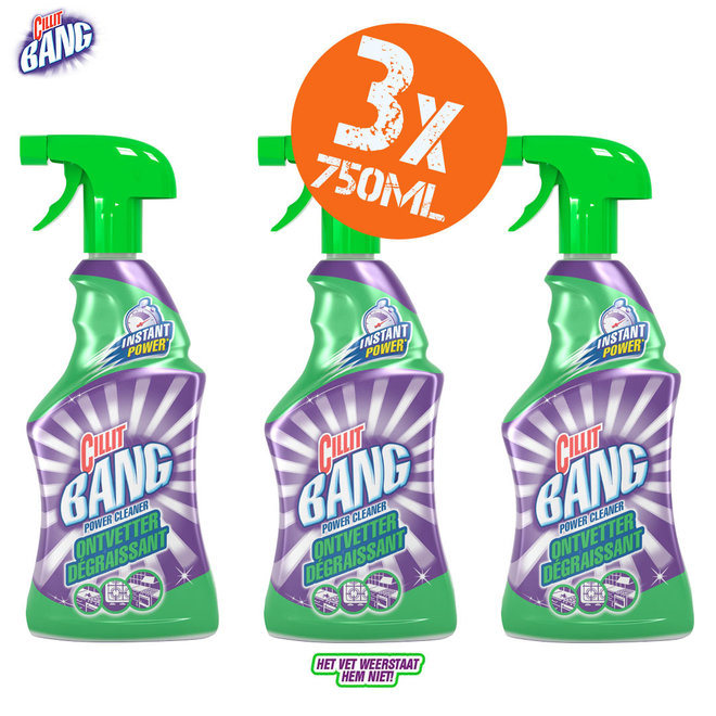 Cillit Bang Power Cleaner 3 x 750ml spray