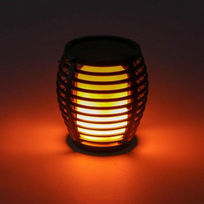2-pack Solarlamp fakkel met bewegende vlam - geen draden