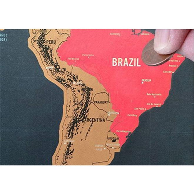1 + 1 GRATIS Wereldkraskaart