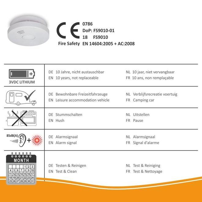 Elro Rookmelder met 10 jaar batterij – q-label, vds en stiwa testwinnaar