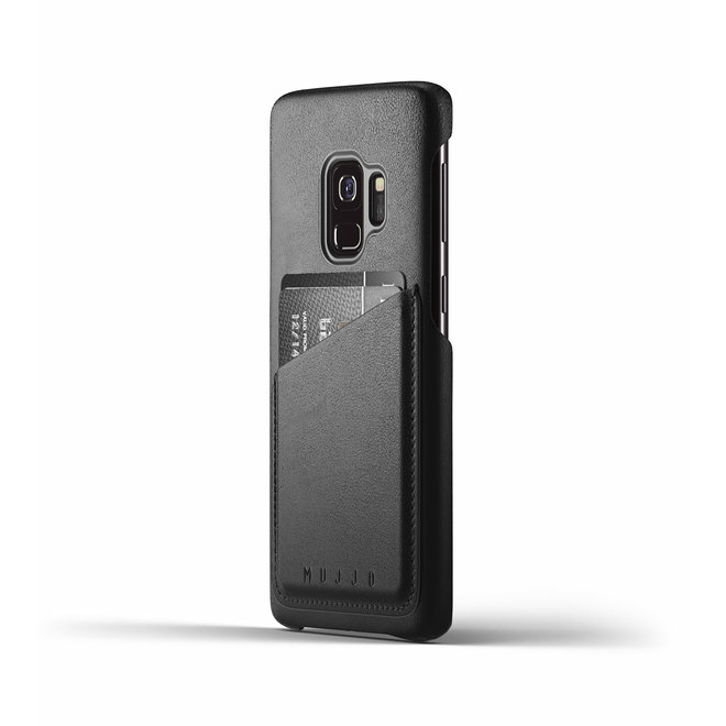 Full Leather Wallet Case voor Galaxy S9 - Black