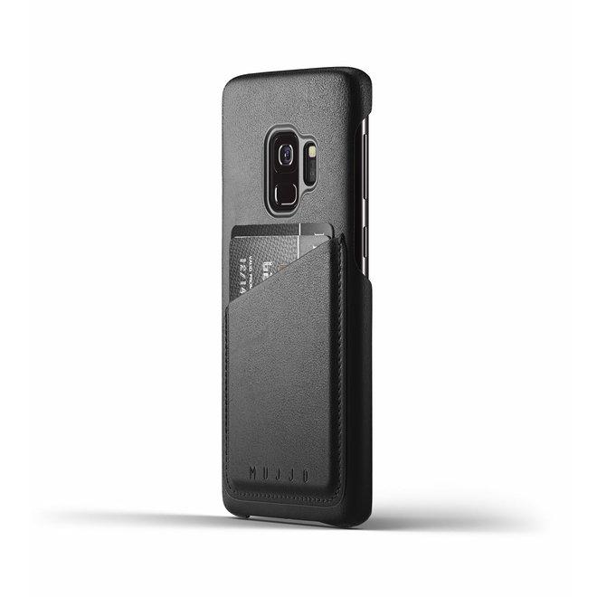 Full Leather Wallet Case voor Galaxy S9 - Black