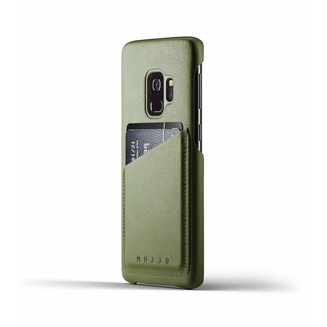 Full Leather Wallet Case voor Galaxy S9 - Olive