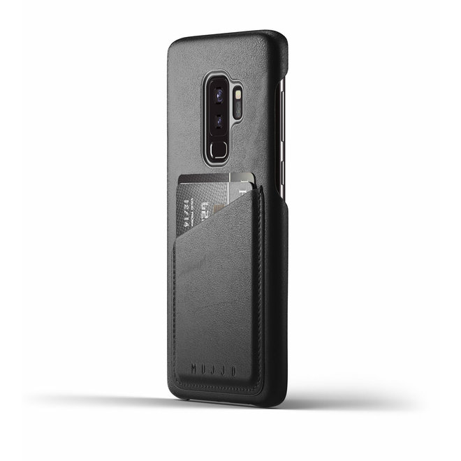 Full Leather Wallet Case voor Galaxy S9 Plus - Black