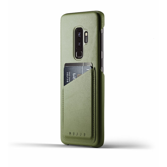 Full Leather Wallet Case voor Galaxy S9 Plus - Olive