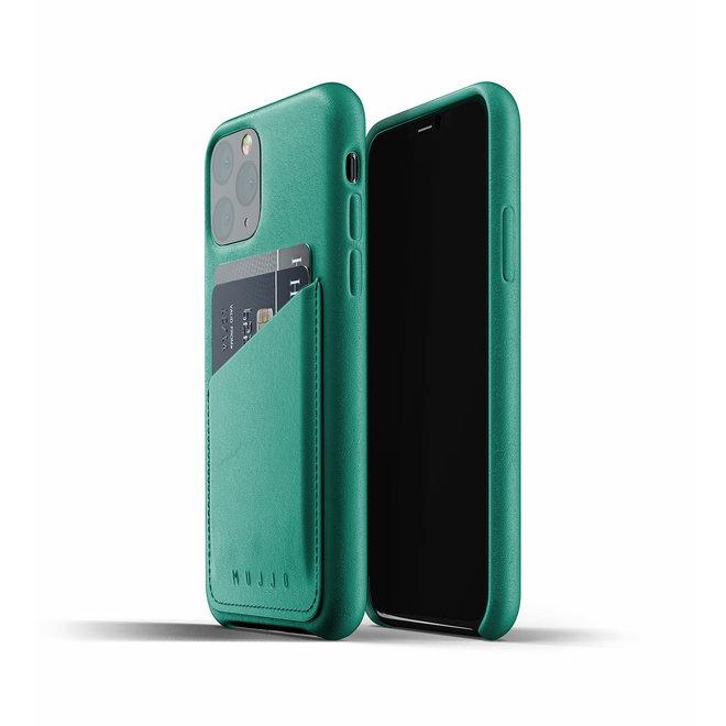 Full Leather Wallet Case voor iPhone 11 Pro - Alpine Green
