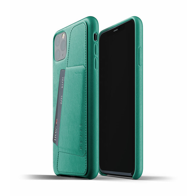 Full Leather Wallet Case voor iPhone 11 Pro Max - Alpine Green
