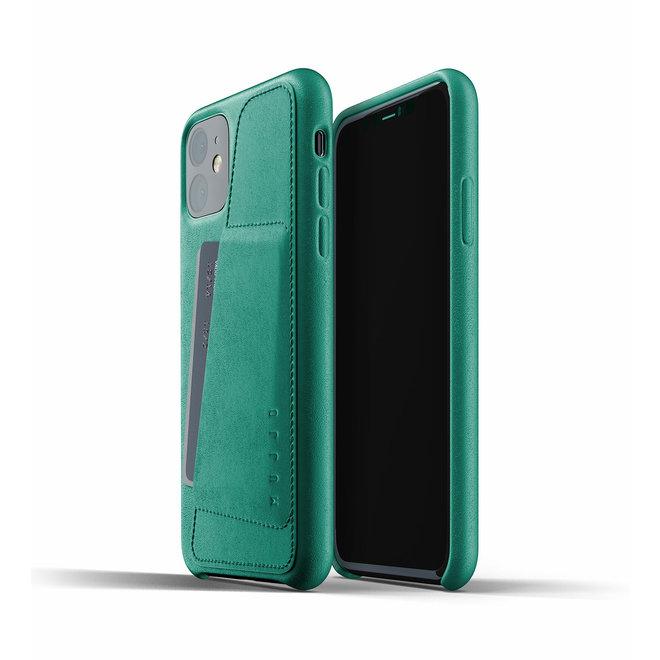 Full Leather Wallet Case voor iPhone 11 - Alpine Green