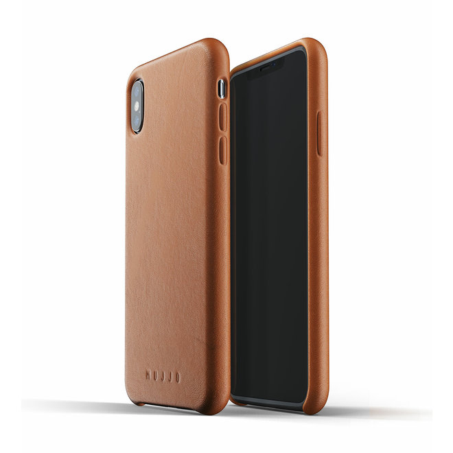 Full Leather Case voor iPhone Xs Max - Tan