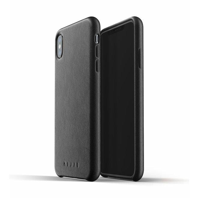 Full Leather Case voor iPhone Xs Max - Black
