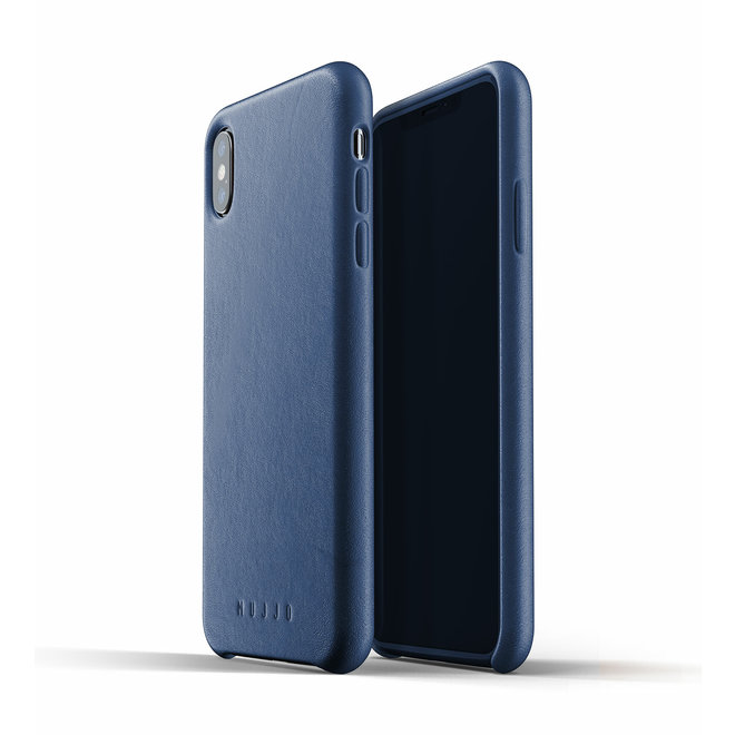 Full Leather Case voor iPhone Xs Max - Blue