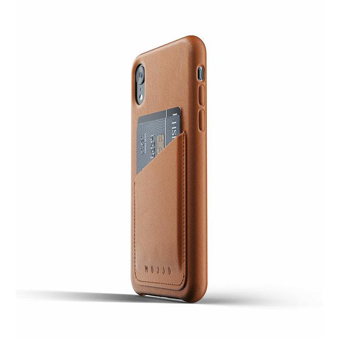 Full Leather Wallet Case voor iPhone Xr - Tan