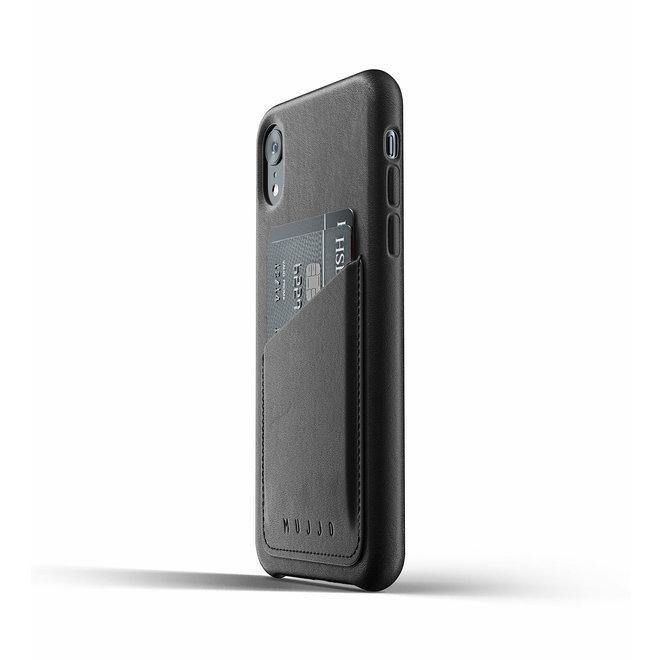 Full Leather Wallet Case voor iPhone Xr - Black