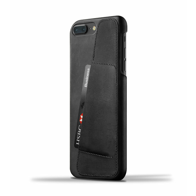 Leather Wallet Case voor iPhone 8 Plus / 7 Plus - Black